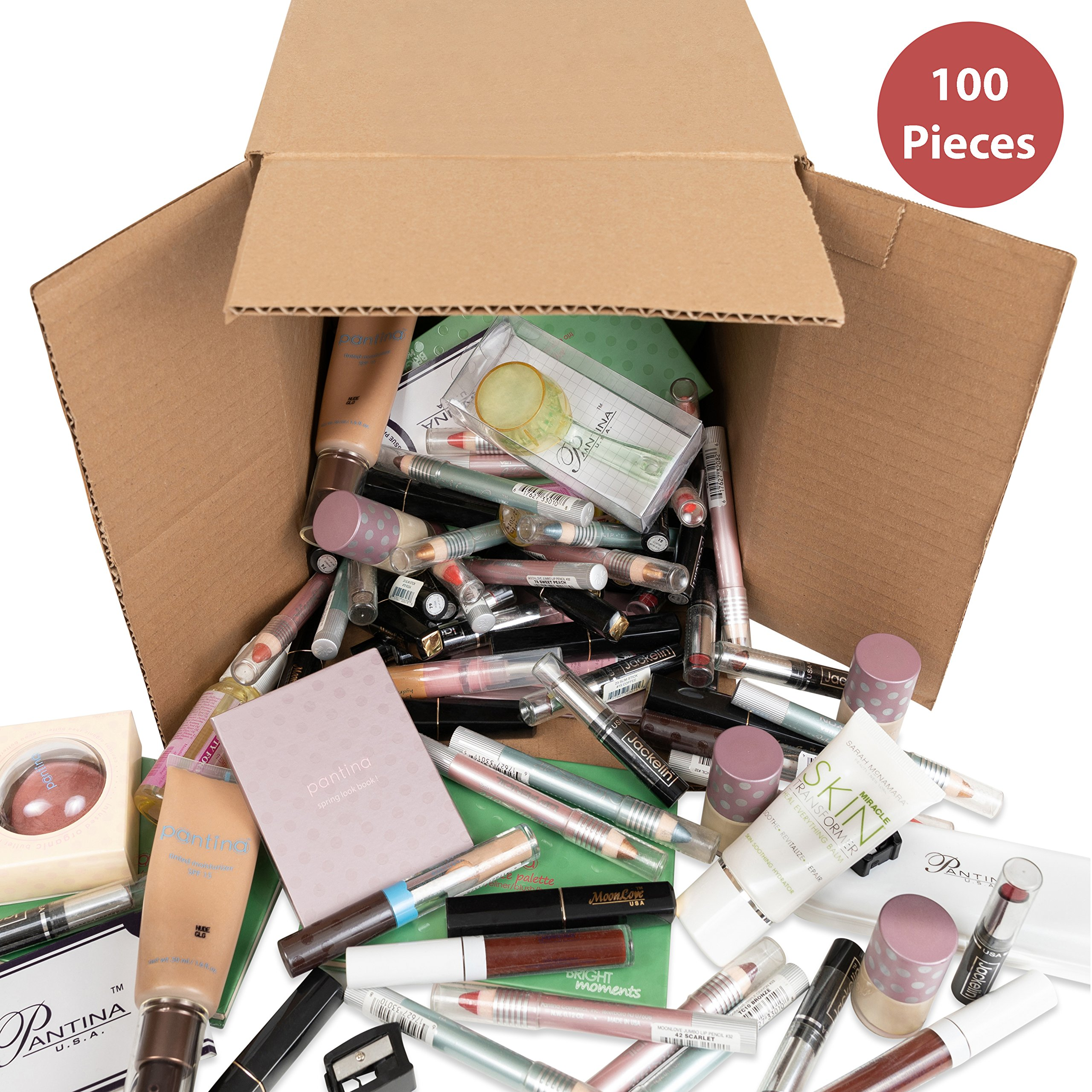 100-Piece Wholesale Bulk Makeup Assorted Cosmetics Box, Kit, Lot, Set, Kids, Girls, Women, Party Favors, Cheap, Gift, Birthday by Truscope (Image #1)