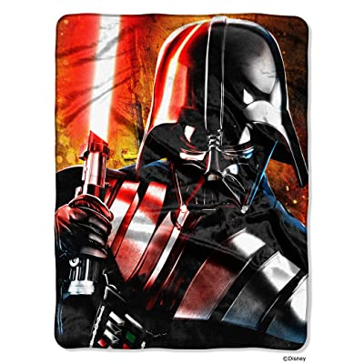"Disney Star Wars, ""Master of Evil"" HD Silk Touch Throw Blanket, 46"" x 60"", Multi Color: Home & Kitchen"
