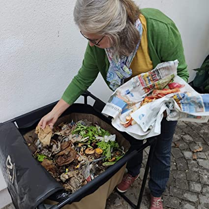 Urban Worm Bag - Vermicomposteur - Compostador de gusanos para compostaje de residuos orgánicos y producción de humus con lombrices - Caja de lombrices para jardín - Mejor granja del mundo…: Amazon.es: Jardín