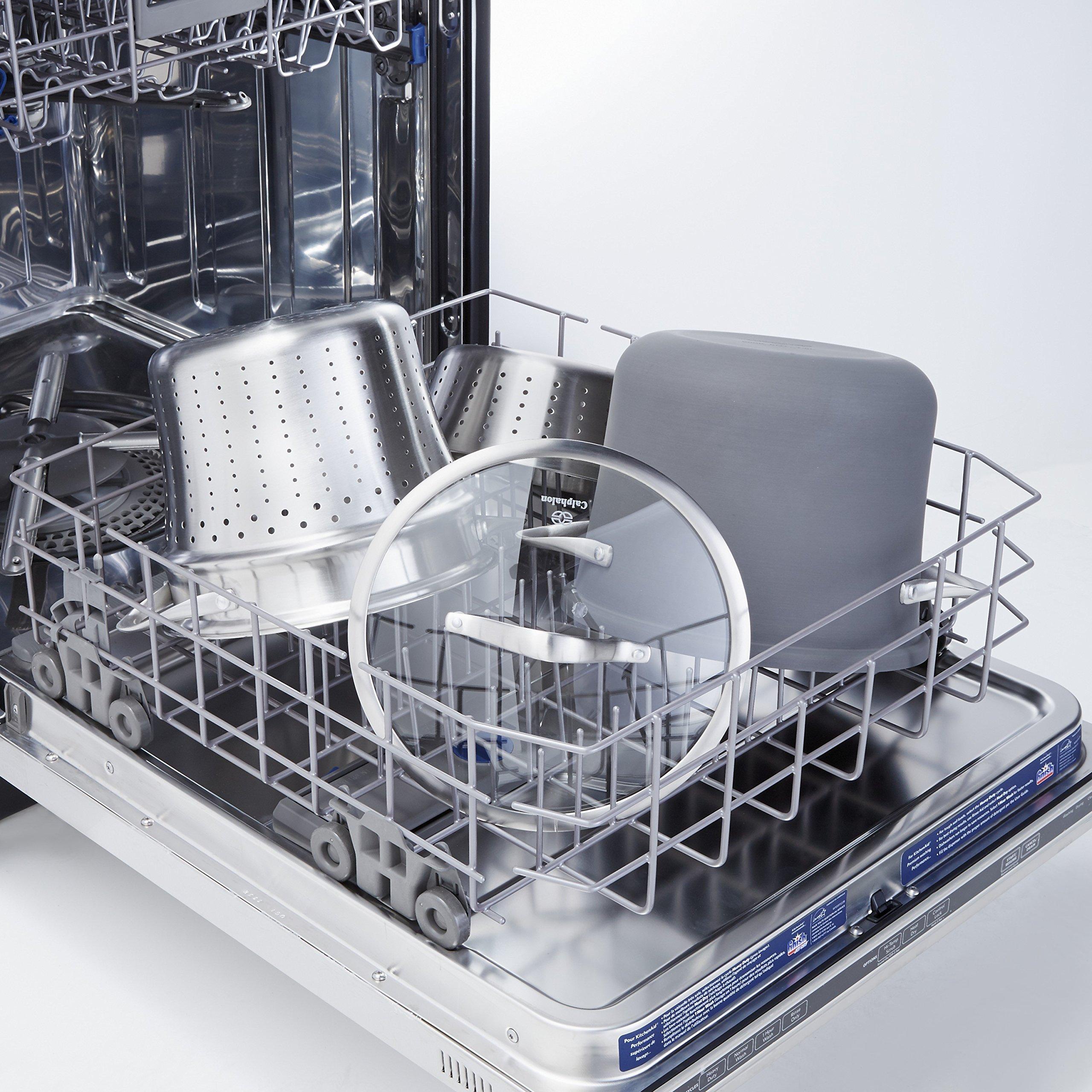 Calphalon Contemporary Hard-Anodized Aluminum Nonstick Cookware, Pasta Pot with Steamer Insert, 8-quart, Black by Calphalon (Image #3)