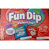 Lik M Aid Fun Dip Valentine Candy - 24 Card Pouches