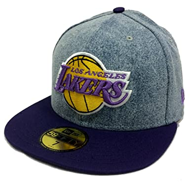 New Era 59Fifty Denim Grunger Los Angeles Lakers Blue & Purple Fitted Cap (7 1
