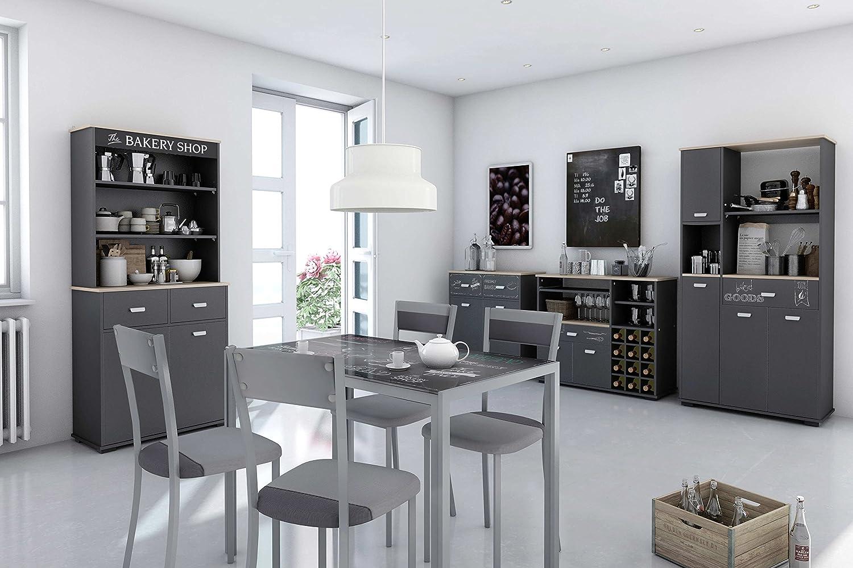 Credenza Da Cucina In Spagnolo : Abitti credenza da cucina a ante e cassetto colore grigio