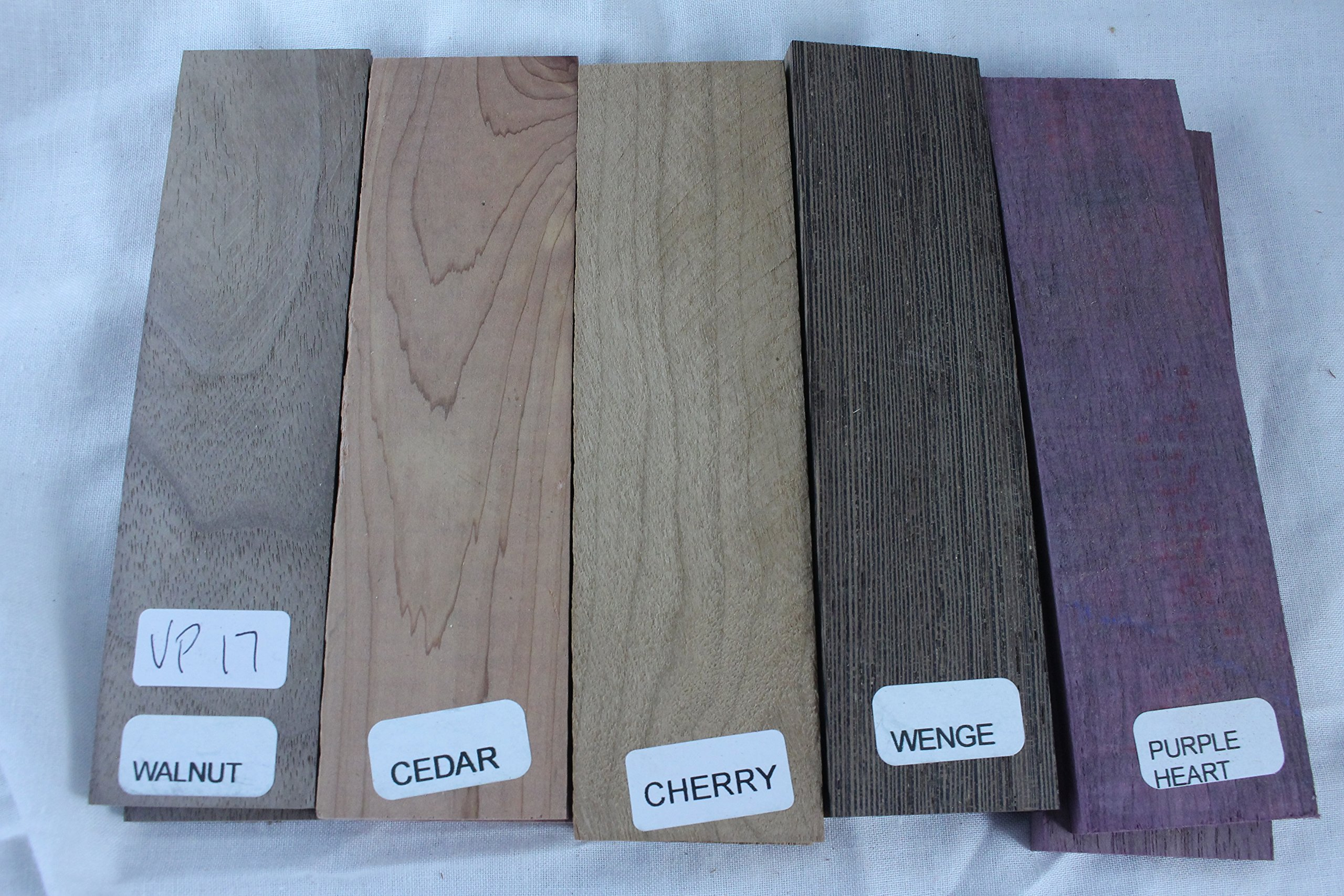 Payne Bros Custom Knives Variety Pack of 5 Wood Scales, 5 INCH, for Knife Making - Gun grps - Craft Supplies (VP17)