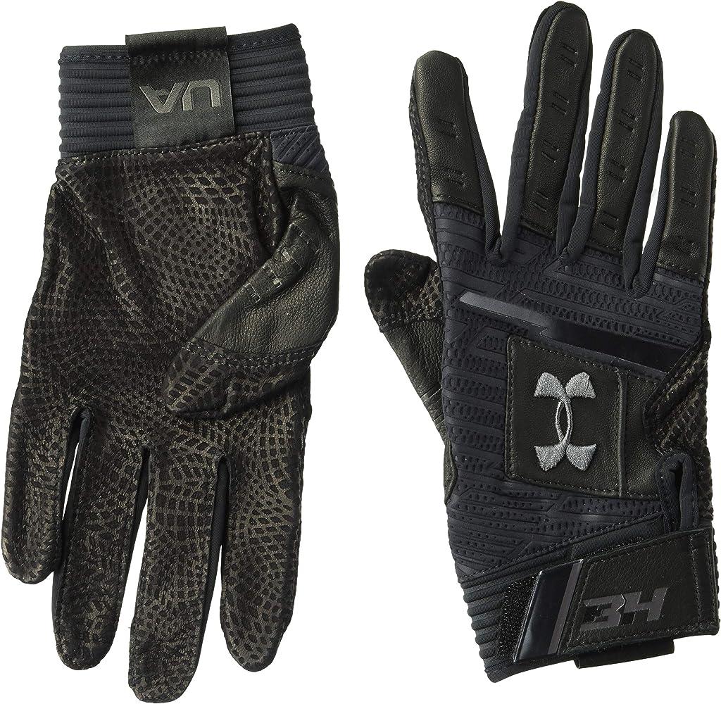 54818ce7fe Amazon.com : Under Armour Men's Harper Pro Batting Gloves, Black ...