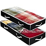 Zober Underbed Storage Bag Flexible Zippered