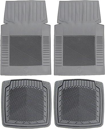 Koolatron Pants Saver Custom Fit 4 Piece All Weather Car Mat for Select Dodge//Ram Models Grey