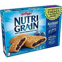 Kellogg's Nutri-Grain Cereal Bars (Blueberry, 8-Count Bars, Pack of 6)