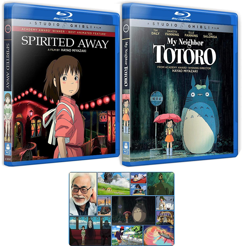 Amazon Com Spirited Away And My Neighbor Totoro Hayao Miyzaki Blu Ray Collection With Bonus Art Card Tim Daly Dakota Fanning Hayao Miyazaki Movies Tv