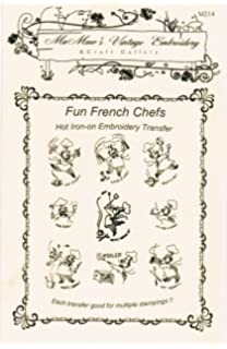 3c7f39dde6bb2a Amazon.com: Happy French Chef Days-of-the-week Tea Towels Hot Iron ...