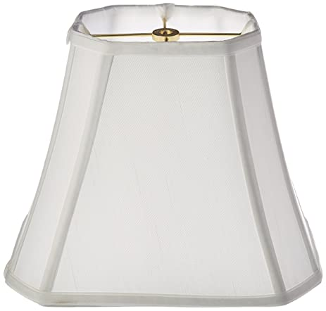 Amazon.com: Royal Designs Rectangle Cut Corner Lamp Shade, White ...