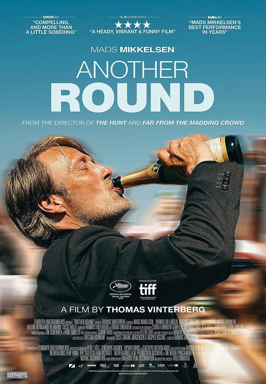 Amazon.com: Oficial - Another Round (Mads Mikkelsen) 2020 Póster de película (27 x 39 pulgadas): Home & Kitchen