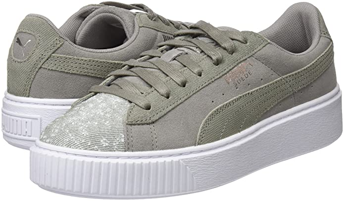 Amazon.com | Puma Women's Suede Platform Pebble WN's Low-Top ...