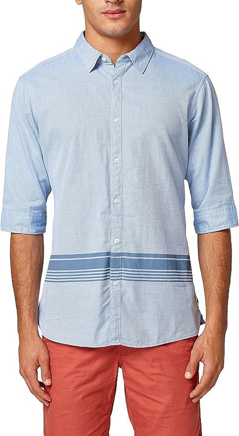 edc by Esprit 038cc2f003 Camisa, Azul (Light Blue 440), X-Small para Hombre: Amazon.es: Ropa y accesorios