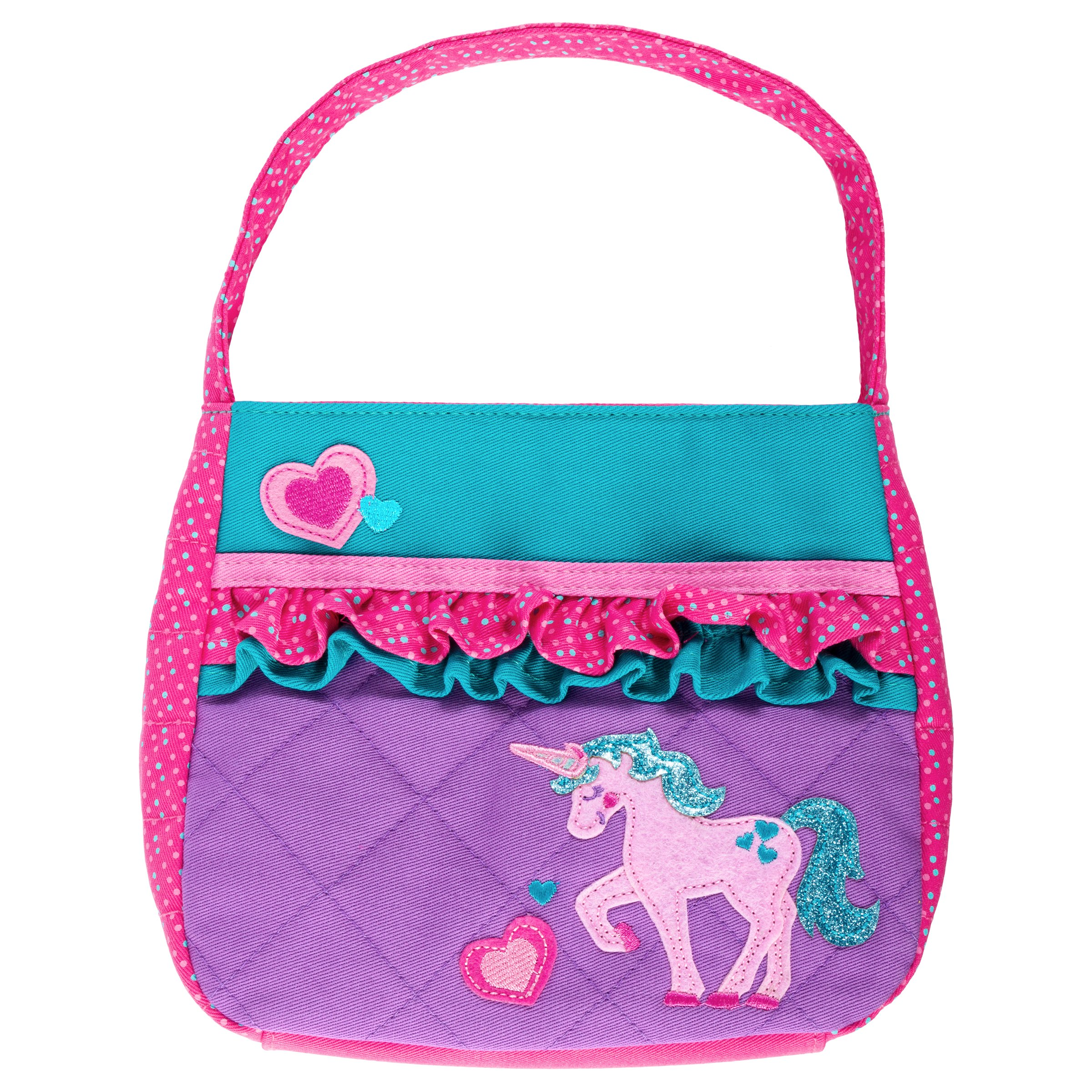 Stephen Joseph Little Girls' Quilted Purse, Unicorn, One Size