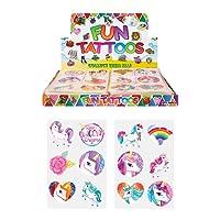 24 x Girls UNICORN Temporary Tattoos Children's Birthday Party Bag Filler
