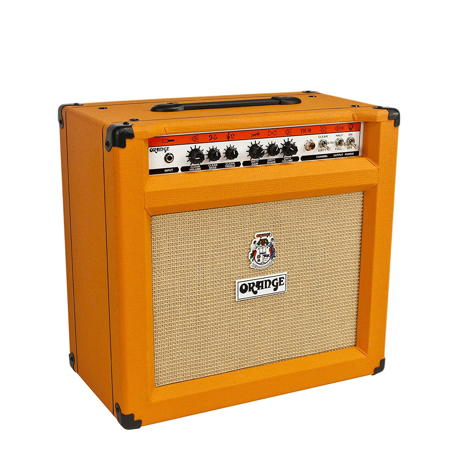 orange th30c bo twin channel amplifier head with