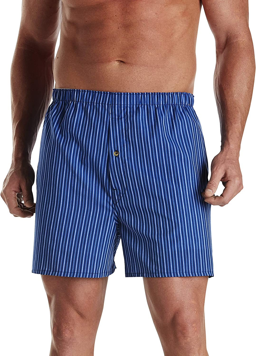 Harbor Bay by DXL Big and Tall 3-Pack Stripe Woven Boxers
