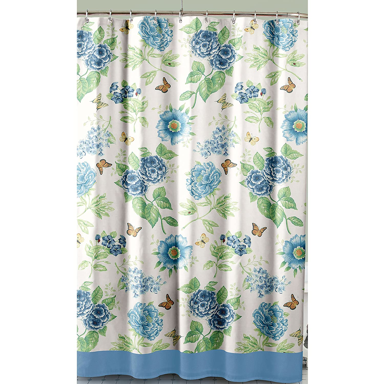 Colorful shower curtain - Multi Color Shower Curtains Part 17 Amazon Com Lenox Printed Shower Curtain
