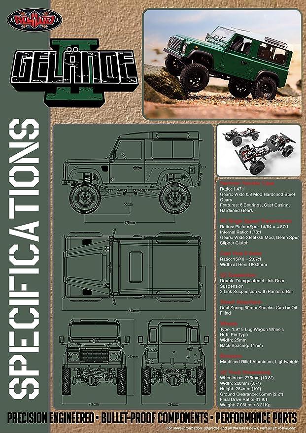 RC4WD gelande II RTR Truck Kit W/Defender D90 Body Set