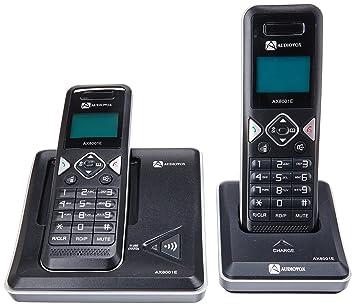 Audiovox AX8001E DECT Negro - Teléfono (Teléfono DECT, Altavoz, 50 entradas, Negro): Amazon.es: Electrónica