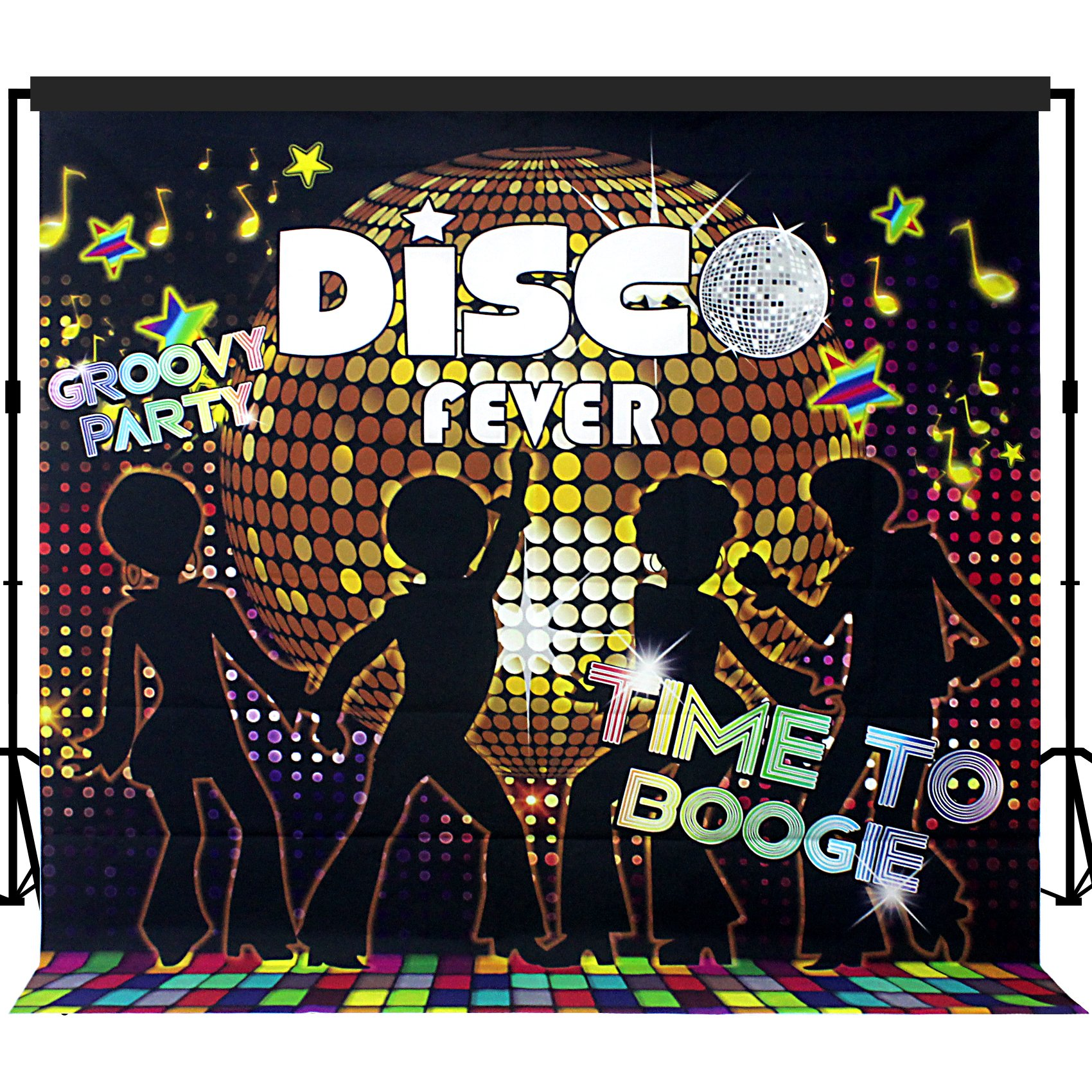 Musykrafties Disco Party Backdrop Banner Scene Setters 7x7 ft by musykrafties