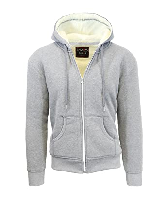 1dd31adc Amazon.com: Galaxy by Harvic Men's Sherpa Lined Hoodie: Clothing