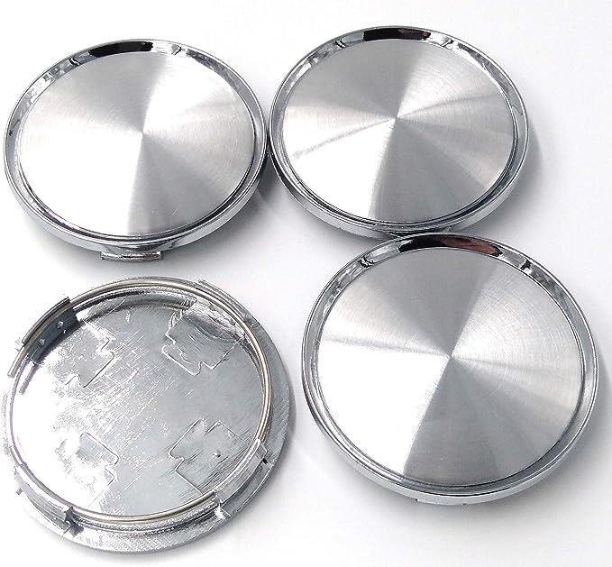 Biznon 4 X Universal Chrom Silber Auto Alloy Felgendeckel Nabenkappen Set Ohne Logo Plain Emblem 75 Mm Für Mercedes Benz Felgendeckel Nabenkappen Radkappen Reifenabdeckung Lkw Kunststoffbeschichtung Auto