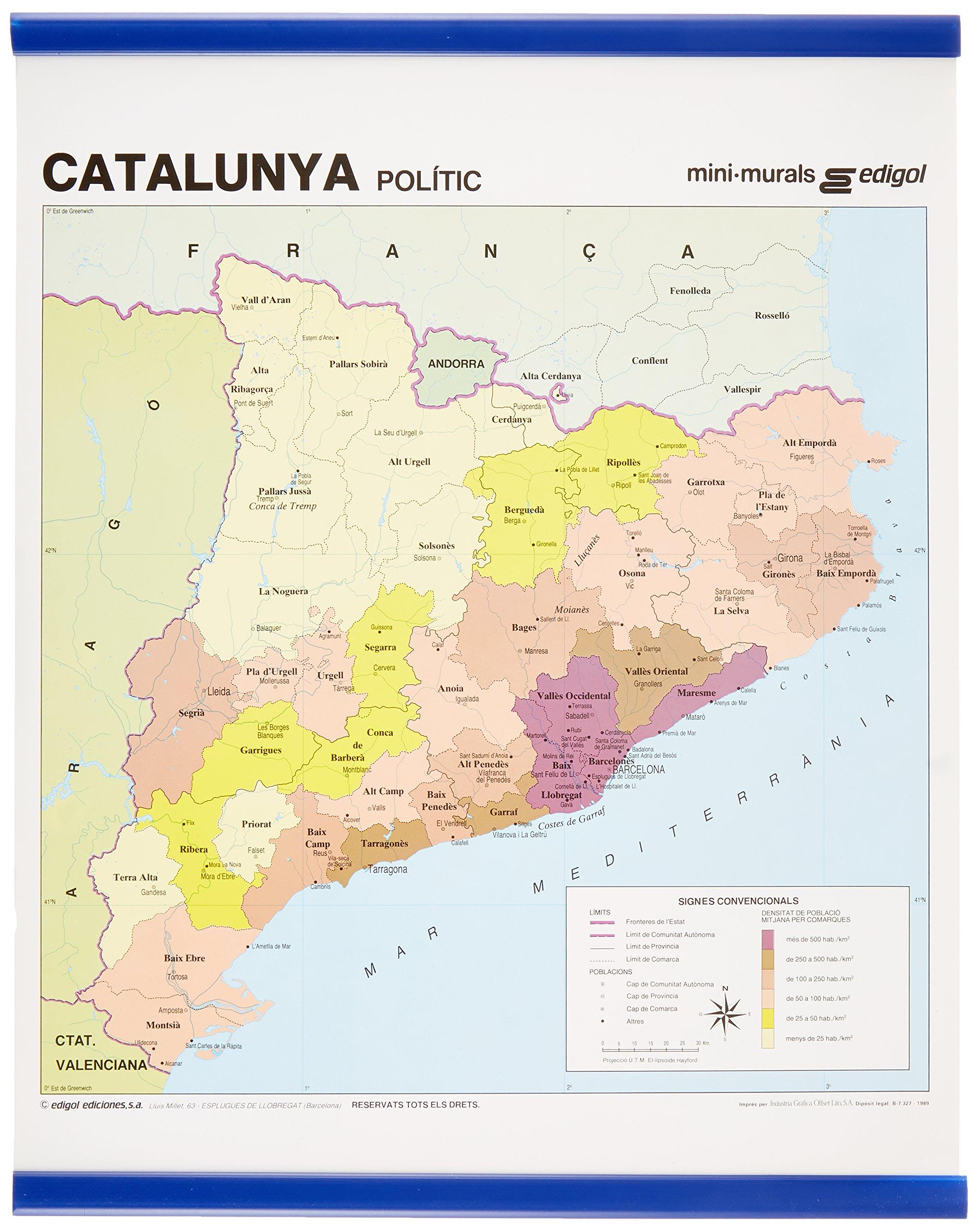Catalunya, demogrˆfic comarcal: Mapas Mini-murales (): Amazon.es: Edigol Ediciones: Libros