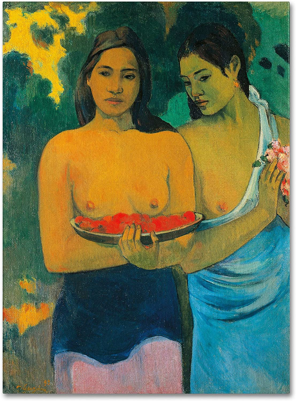 PAUL GAUGUIN 1899 Three Tahitians Post-Impressionist Art Poster