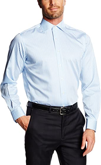 Mirto Venecia Camisa de Vestir, Azul, 38 para Hombre: Amazon.es ...