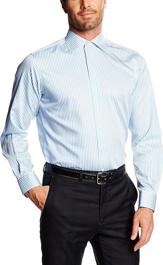 Mirto Venecia Camisa de Vestir, Azul, 38 para Hombre: Amazon.es: Ropa y accesorios
