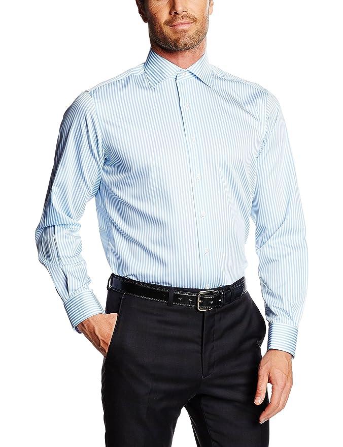 comprar original donde puedo comprar lista nueva Mirto Venecia Camisa de Vestir, Azul, 38 para Hombre: Amazon ...