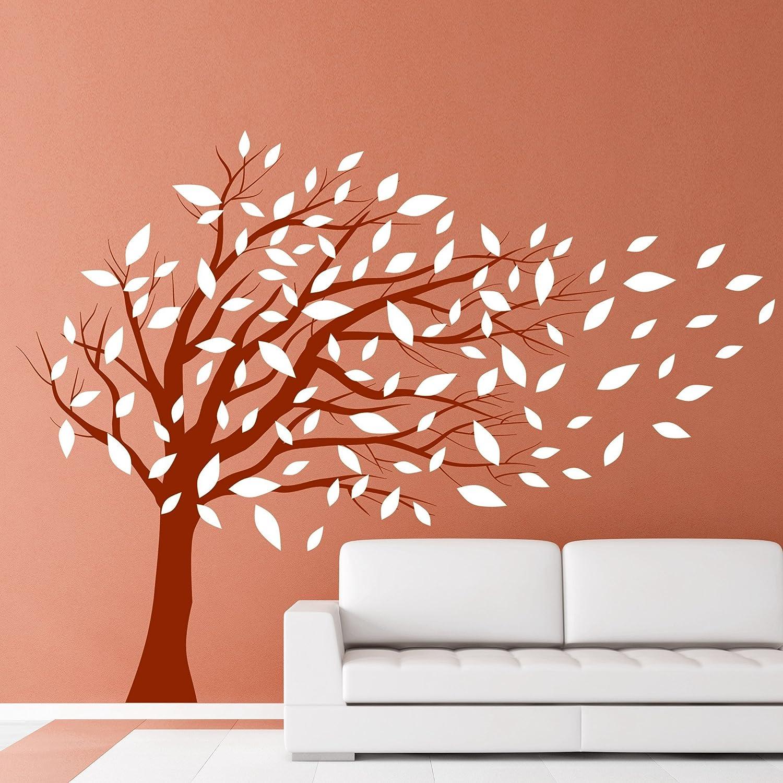 DESIGNSCAPE® DESIGNSCAPE® DESIGNSCAPE® Wandtattoo Baum im Wind - Zweifarbiger Wandtattoo Baum 180 x 170 cm (Breite x Höhe) Farbe 1  lindgrün DW804070-L-F16 B01ELDXKFS Wandtattoos & Wandbilder 02fbe4