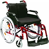 """Drive Enigma XS Aluminium Transit Wheelchair with 18"""" Seat Width in Blue"""