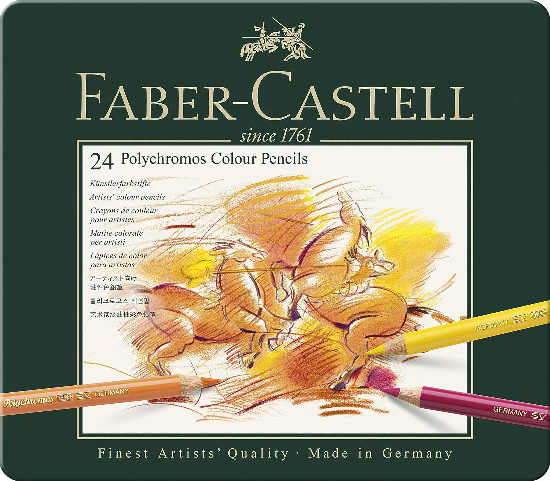 Faber-Castell-110024 Lápices de Colores, 24 Unidades, Multicolor, ecolápices (Polychromos 110024)