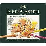 Faber-Castell Colour Pencils Polychromos 24 Colour Pencils Tin, Multicolor, Tin Of 24 (18-110024)