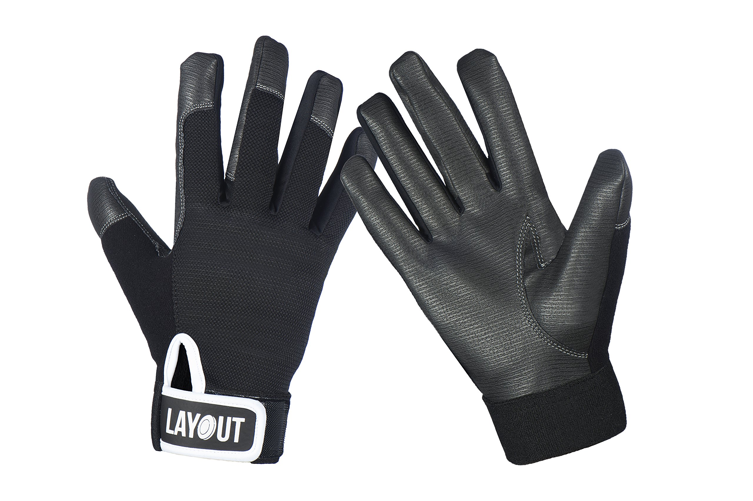Layout Ultimate Frisbee Gloves - Ultimate Grip and Friction to Enhance Your Game! (M)