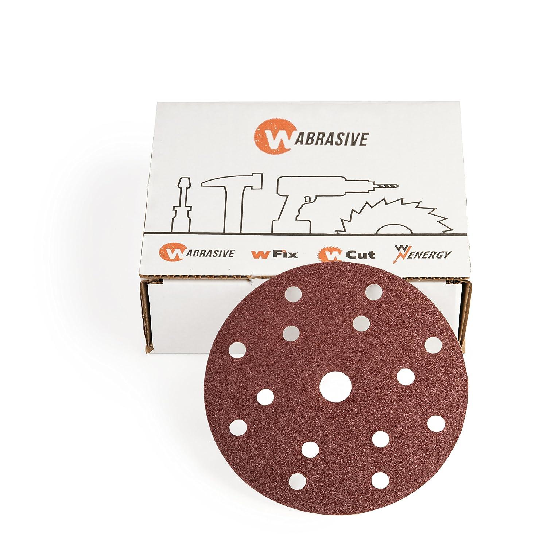 Lija 150mm de diámetro 50unidades de wabrasive & # x2022; Velcro Papel De Lija con granulado 100K100lija & # x2022; de lija con velcro para lijadora excéntrica wzw