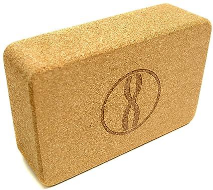 Amazon.com : TheRelaxBrand Heala Fit Cork Yoga Block ...