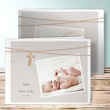 Taufe Fotoalbum Personalisiert Holzkreuz 28 Seiten