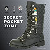 DailyShoes Women's Military Lace Up Buckle Combat