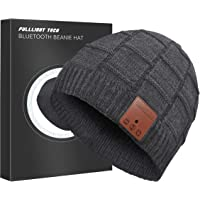 FULLLIGHT TECH Upgraded V4.2 Bluetooth Beanie Hat Headphones Wireless Headset Winter Music Hat Knit Cap with Stereo…