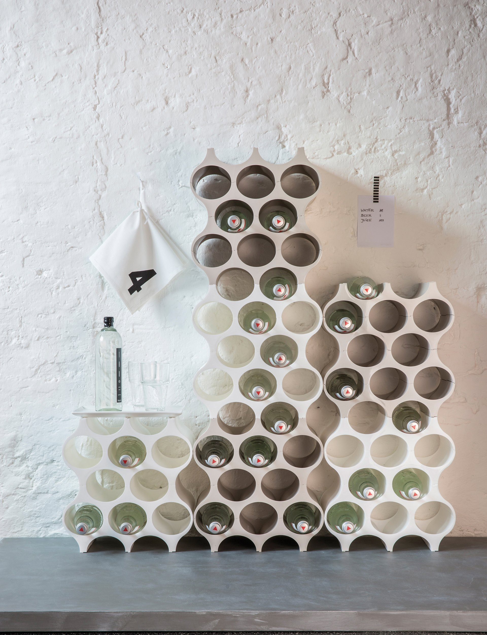 Koziol SET-UP Bottle Rack, Cosmos Black by Koziol (Image #4)