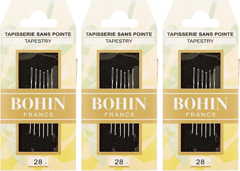 Size 24 6//Pkg Fоur Paсk Bohin Tapestry Hand Needles