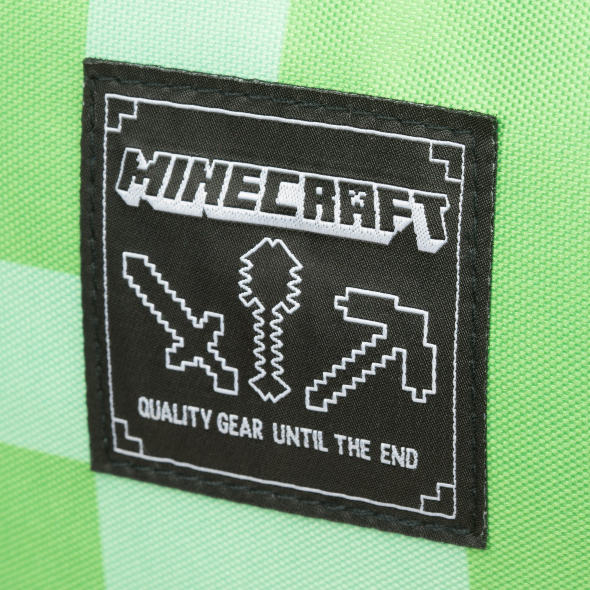 JINX Minecraft Creeper Kids Backpack (Green, 18'') for School, Camping, Travel, Outdoors & Fun by JINX (Image #7)