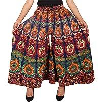 Jaipuri Fashionista Cotton Women's Regular Fit Jaipuri Printed Divider Palazzo Pant (Free Size)