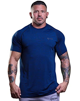 23a63011 Amazon.com: Men's Gym Premium T-Shirt Bodybuilding Muscle Workout Athletic  Fitness Tee: Clothing