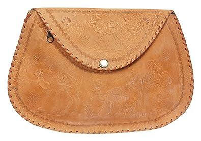 7a8a3d7fd1 OZONE GLOBLE Leather Women s Sling Bag Free Size Brown  Handbags  Amazon.com