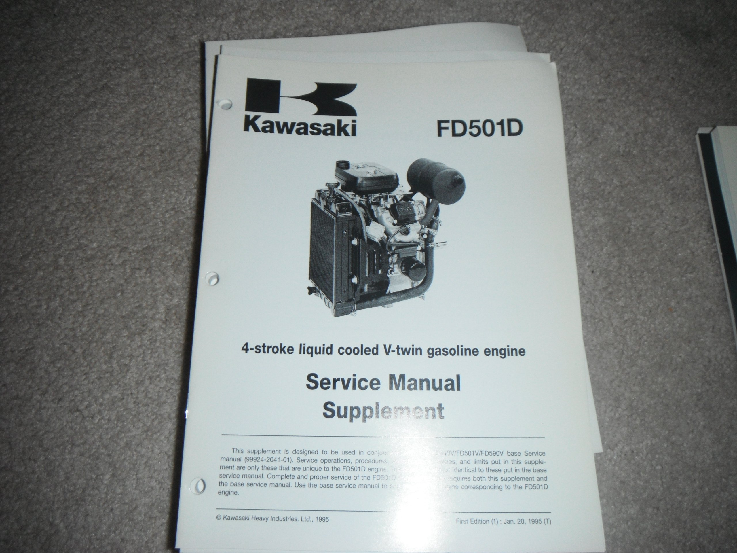 kawasaki fd501d 4 stroke liquid cooled v twin gasoline engine rh amazon com Kawasaki Bayou 300 Service Manual Kawasaki Engines